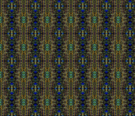 peacock strip fabric by dk_designs on Spoonflower - custom fabric