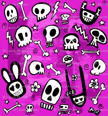 FunSkulls Purple Background