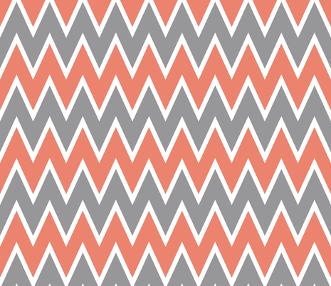 Chevron Coral Stripe  fabric by allisajacobs on Spoonflower - custom fabric