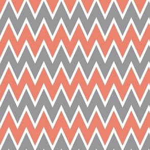 Chevron Coral Stripe