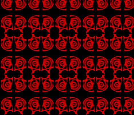 Skulls in Red fabric by gabriel_garrod on Spoonflower - custom fabric