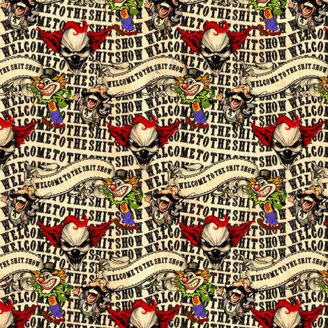 """Shit show at 7"""" fabric by whimzwhirled on Spoonflower - custom fabric"""