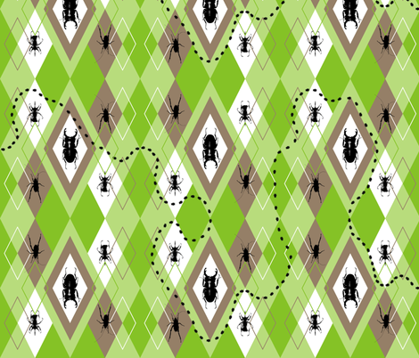 Beetles Argyle Lawn Party fabric by smuk on Spoonflower - custom fabric