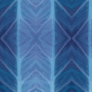 Botanical - Taro Leaf in blue