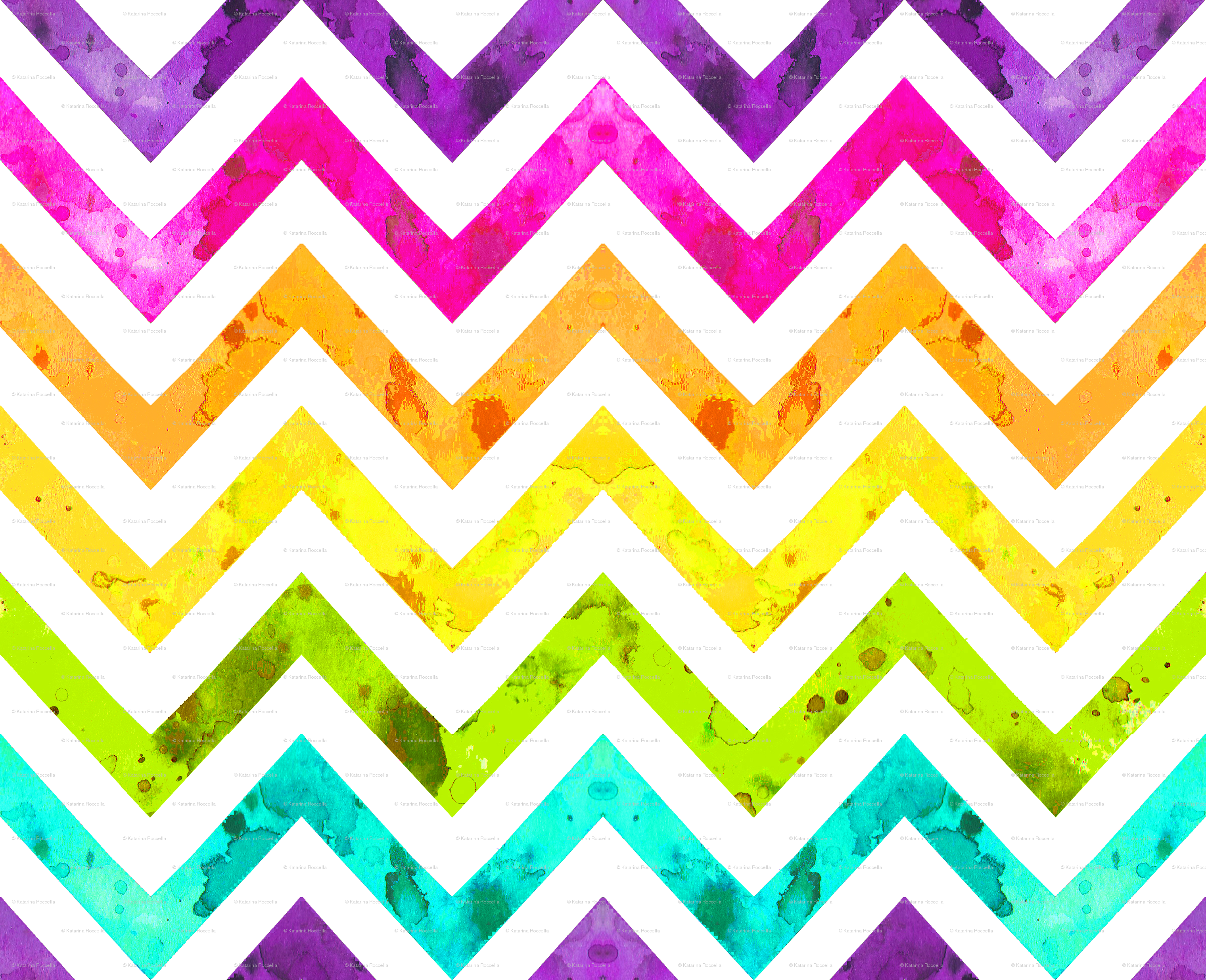 Photo Collection Watercolor Zig Zag Background