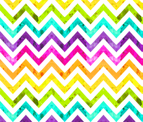 watercolor chevron rainbow fabric by katarina on Spoonflower - custom fabric