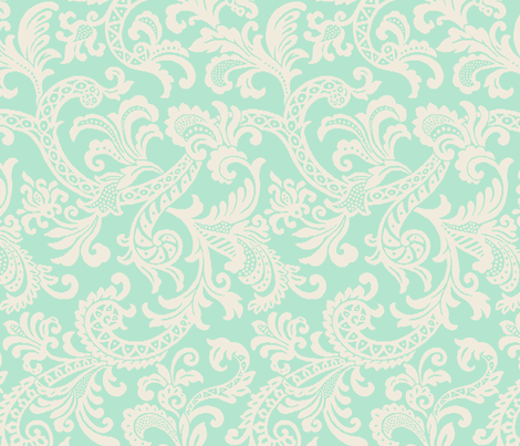 Paisley Scroll fabric by littlerhodydesign on Spoonflower - custom fabric
