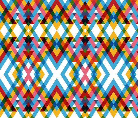 ribbon overlay fabric by pencilmein on Spoonflower - custom fabric