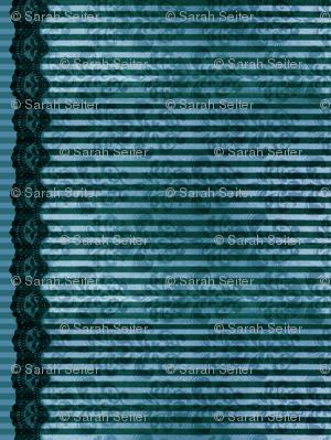 Steampunk Lady - Blue Stripe - Doll scale
