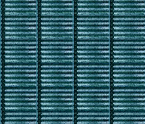 Steampunk Lady - Blue Stripe - Doll scale fabric by misticunicorn on Spoonflower - custom fabric