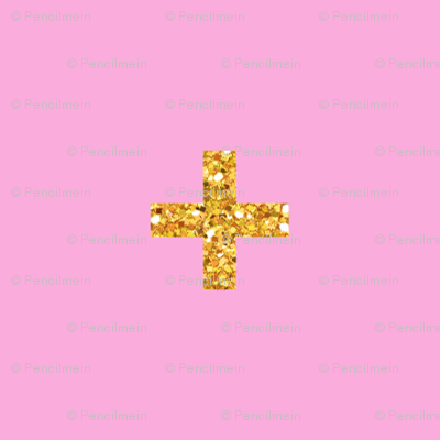 Glitter Cross // Plus on Pink