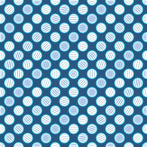 Blue Polka Dot SPiral