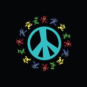 Black Peace Sign  Blue AquaD Dancing bears