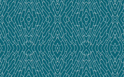 Turquoise Skin fabric by mewack on Spoonflower - custom fabric