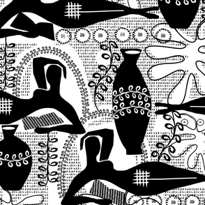 Did Matisse read in the winter? large scale black and white palette