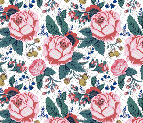 Floral fabric by emilyhampton on Spoonflower - custom fabric