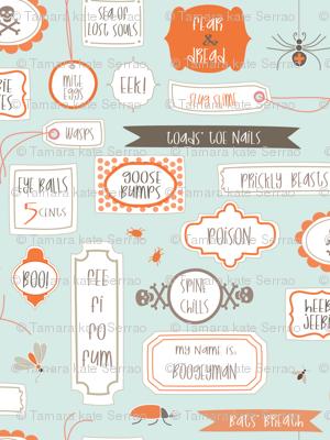 Spine Chilling Labels - robins egg