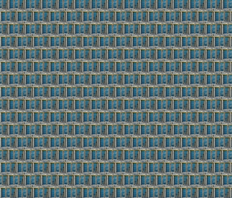Winows in Blue fabric by walkwithmagistudio on Spoonflower - custom fabric