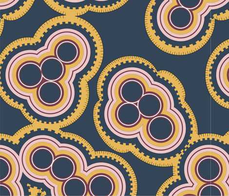 Slate Mitosis fabric by mewack on Spoonflower - custom fabric