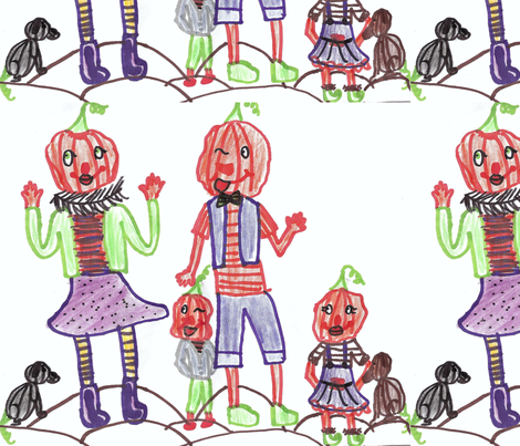 The pumkin people  fabric by puppyprincess1 on Spoonflower - custom fabric