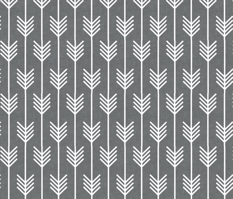 arrows_gray fabric by holli_zollinger on Spoonflower - custom fabric
