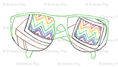 80's Sunglasses Embroidery Pattern