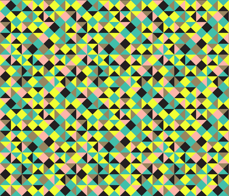 80s triangle pattern fabric by ravynka on Spoonflower - custom fabric