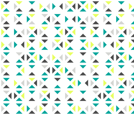 whitespace triangles fabric by ravynka on Spoonflower - custom fabric