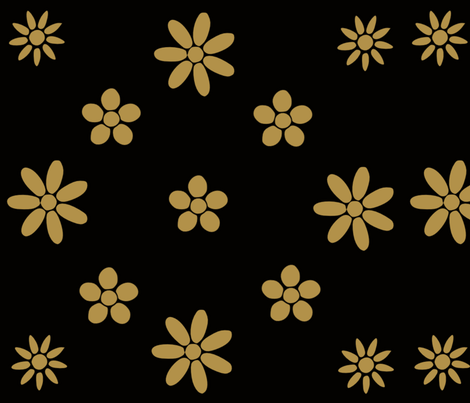 Golden Floral  fabric by crypticfragments on Spoonflower - custom fabric