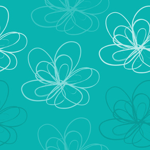 Turquoise Scribbleflower