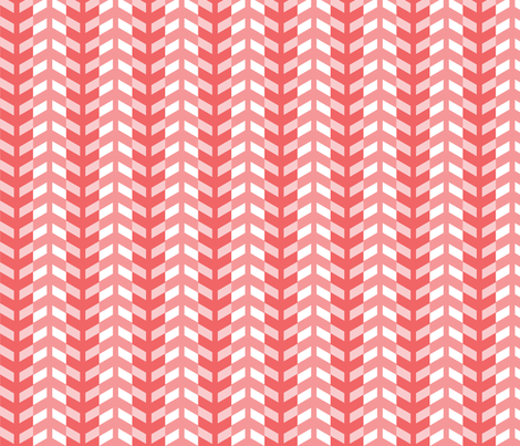 Arrows in coral fabric by little_fish on Spoonflower - custom fabric
