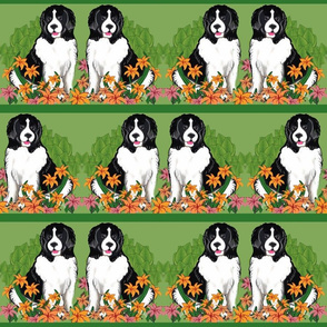 Landseer In The Garden Wallpaper