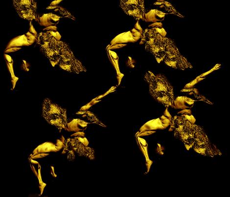2corner_birdmanrepet fabric by farrarartdesigns on Spoonflower - custom fabric