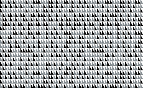 Black and White Triangles fabric by mewack on Spoonflower - custom fabric