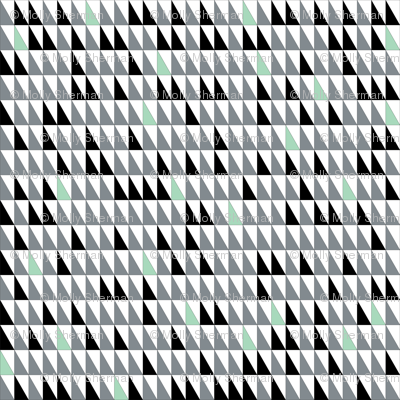 Gray and Mint Triangles