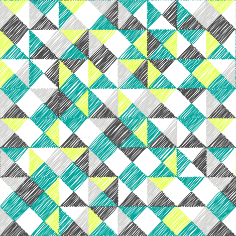 scribble  triangles  fabric by ravynka on Spoonflower - custom fabric