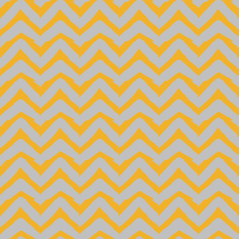Yellow and Grey Electric Chevron by Bohemian Bear fabric by bohobear on Spoonflower - custom fabric