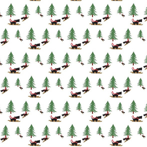 Skiing_Scotties Gift Wrap