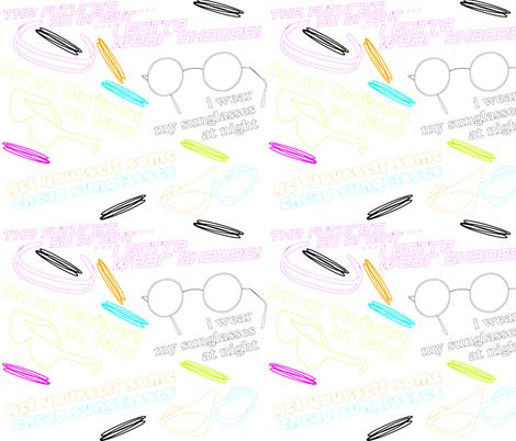 80s Sunglasses Songs fabric by gg33 on Spoonflower - custom fabric