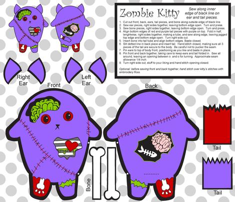 zombie_kitty fabric by crystalef on Spoonflower - custom fabric