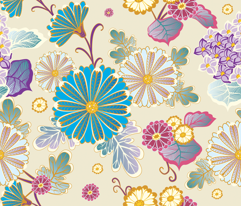 Flowers 1 fabric by milenagaytandzhieva on Spoonflower - custom fabric
