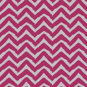 Burgundy and Grey Jagged Electric Chevron