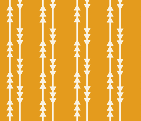 Mustard Arrows fabric by shastafeltman on Spoonflower - custom fabric