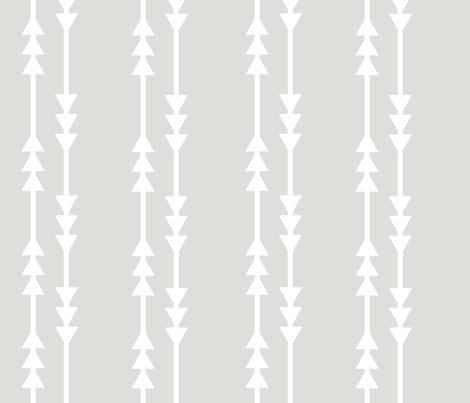 Gray Arrows fabric by shastafeltman on Spoonflower - custom fabric