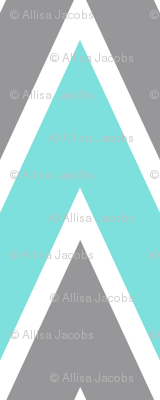 Aqua Chevron Stripe