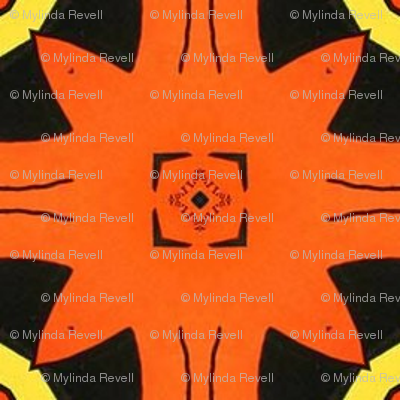 Orange and Black Geo85