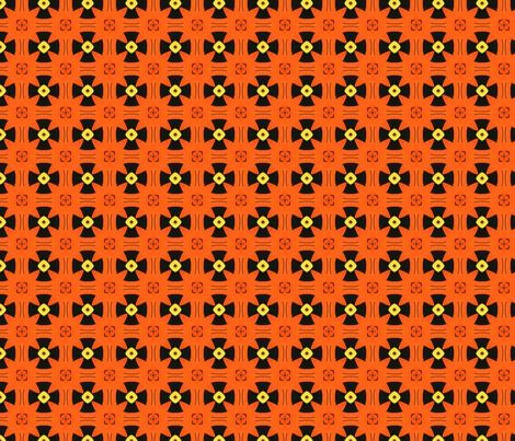 Orange and Black Geo85 fabric by mosaicdreams on Spoonflower - custom fabric