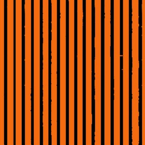 Pumpkin Orange and Black Tiger Stripes (vertical)