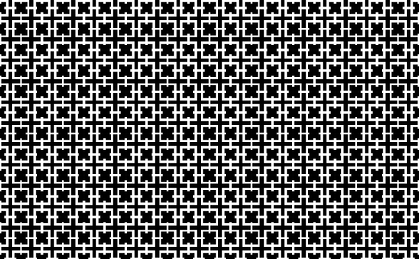 Black and White Interlock fabric by mewack on Spoonflower - custom fabric