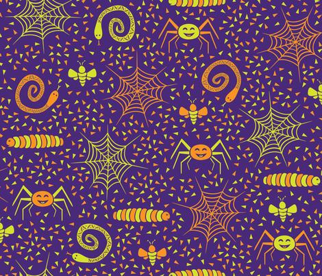 Kooky Spooky Critters fabric by robyriker on Spoonflower - custom fabric